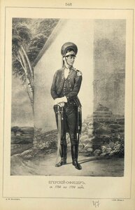 548. ЕГЕРСКИЙ ОФИЦЕР, с 1786 по 1796 год.