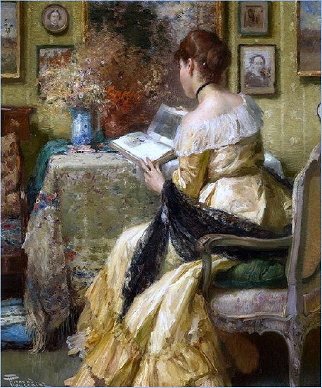 afternoon-reading. FERNAND TOUSSAINT  1873-1955