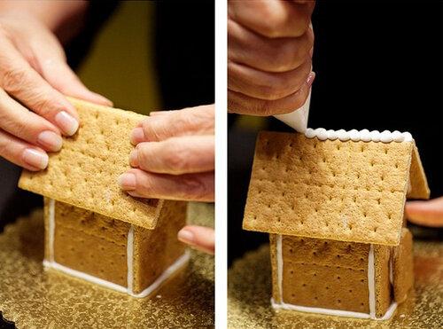 Как сделать домик из печенья 4