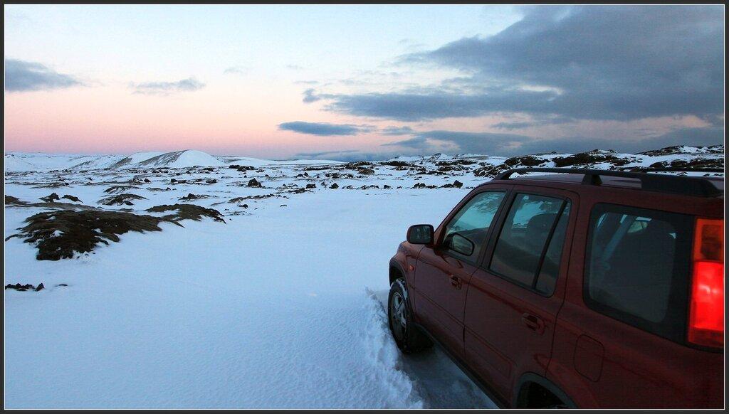 Honda, iceland, snow