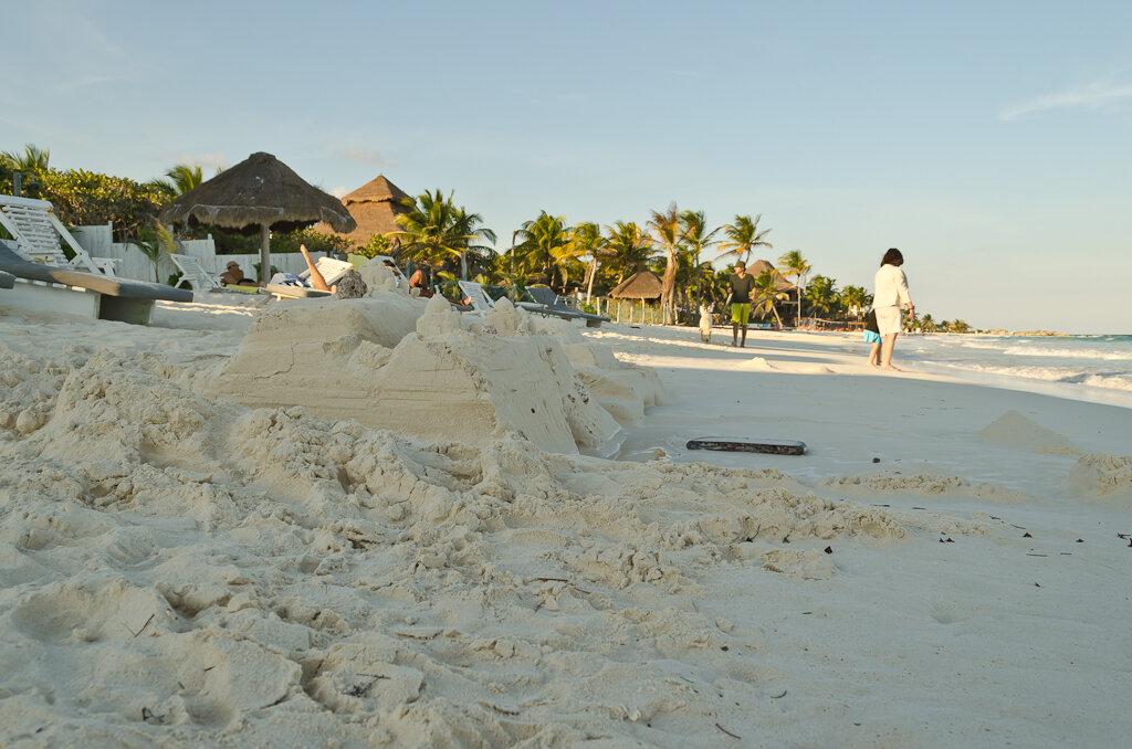 Фото 8. Тулум. Замок из песка. Отдых в Мексике.