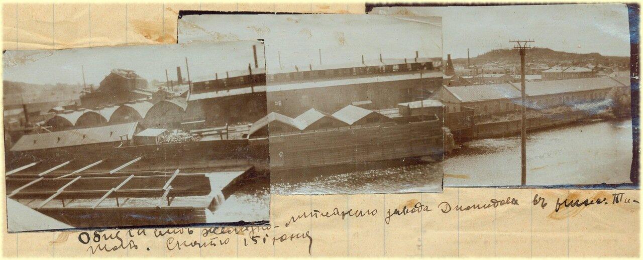 Общий вид железно-литейного завода Демидова в Нижнем Тагиле. Снято 15 июня