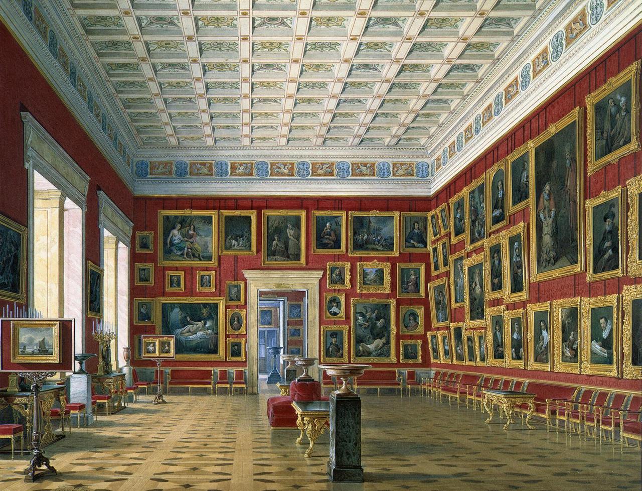 Интерьеры Нового Эрмитажа. Зал голландской и фламандской живописи