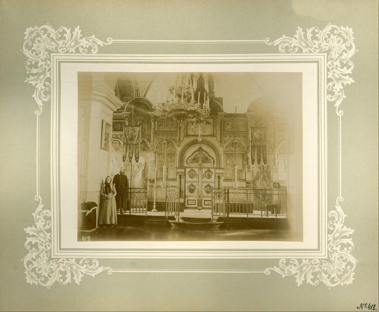 Иконостас церкви Божией Матери Всех скорбящих Радость над Святыми вратами