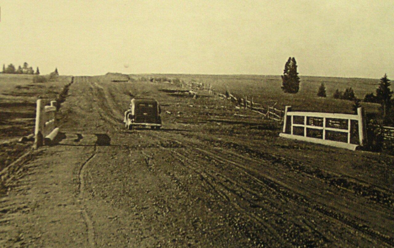 Гравийная дорога в Вавожском районе.