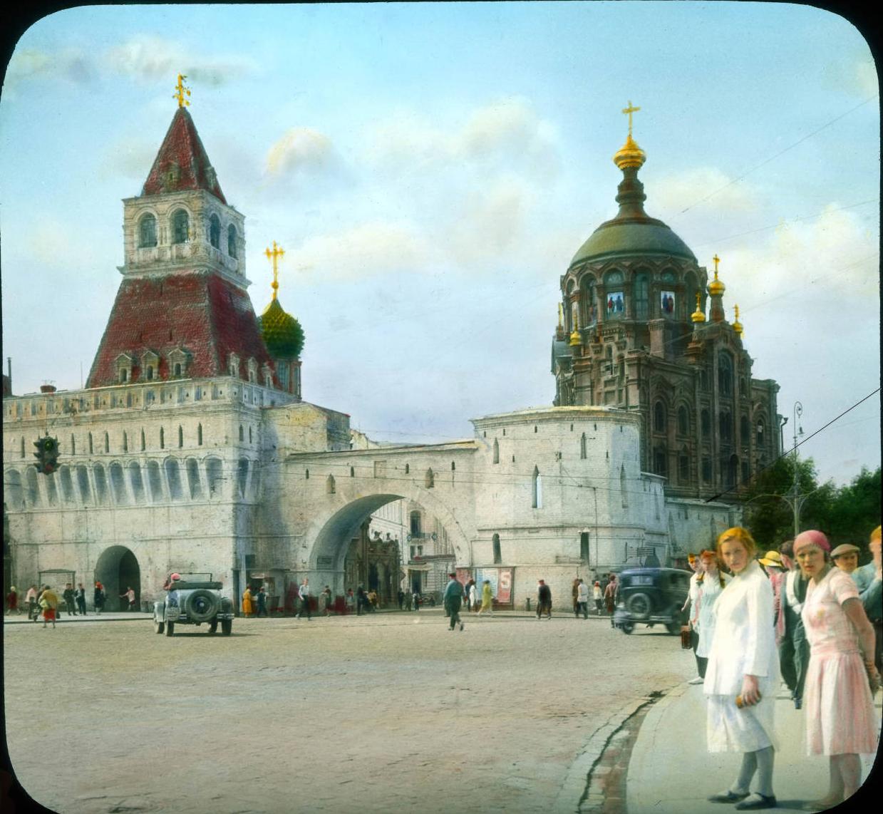 Москва. Китай-город- Владимирские ворота и Лубянская площадь