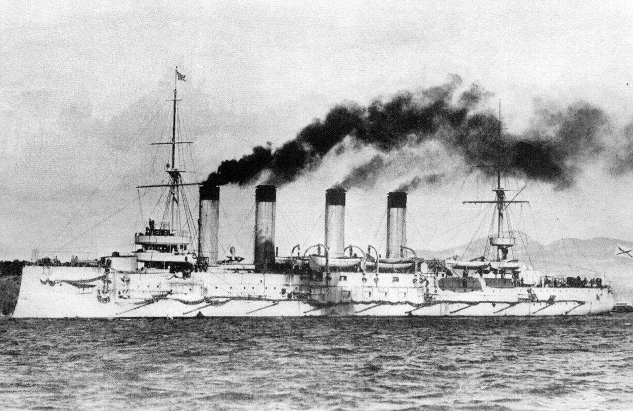 Броненосный крейсер Баян в Тулоне, 1902 год