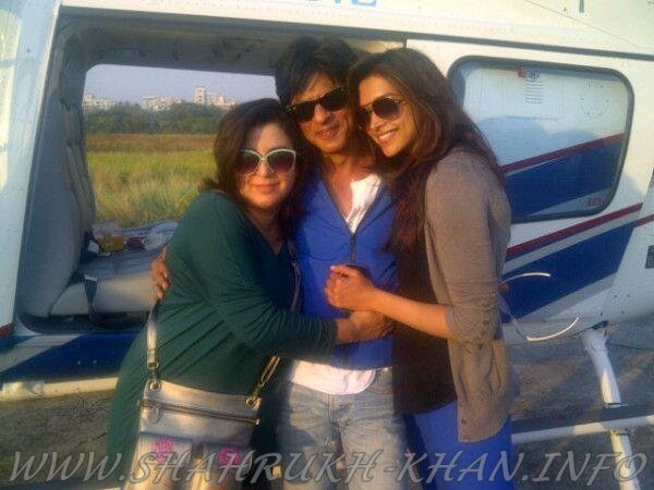 SRK, Deepika & Farah - Twitter - 28 december 2012 (Chennai Express)