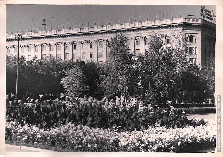 Волгоград 1965 год Одно из зданий в центре города