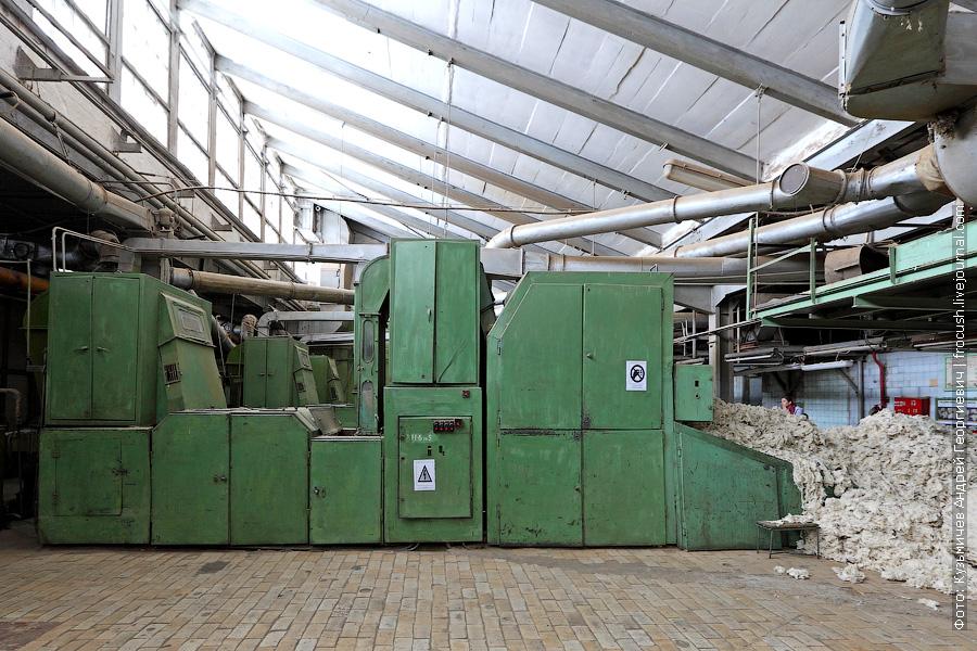 Разрыхлительно-очистительная машина на камвольном производстве