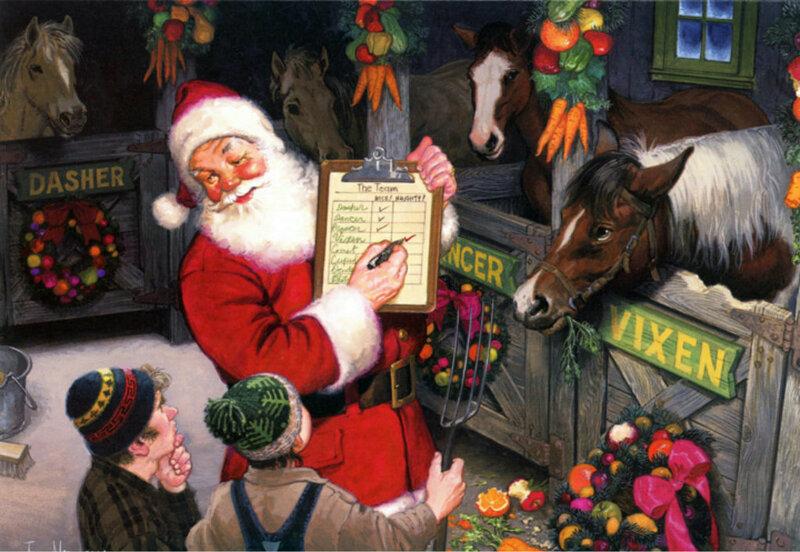Поздравление, новогодние открытки америки