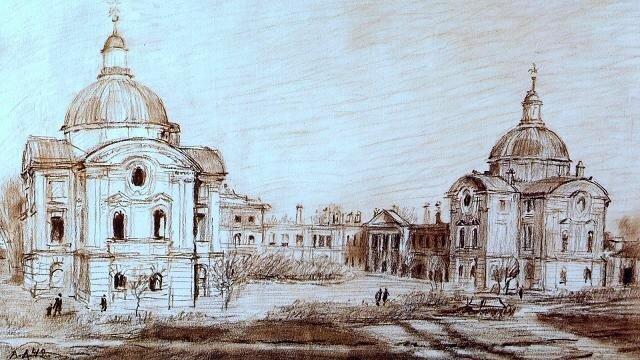 Дворец в г. Калинине  XVIII в. арх. Казаков. 1942г.