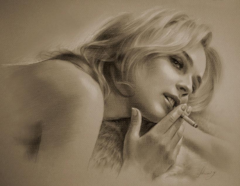 Эротические картины в карандаше