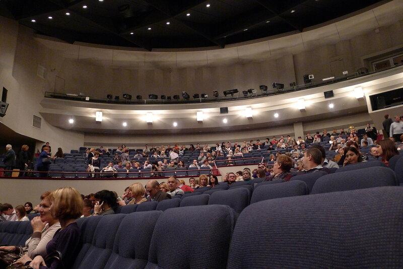 Вид в зал Театра Сатиры