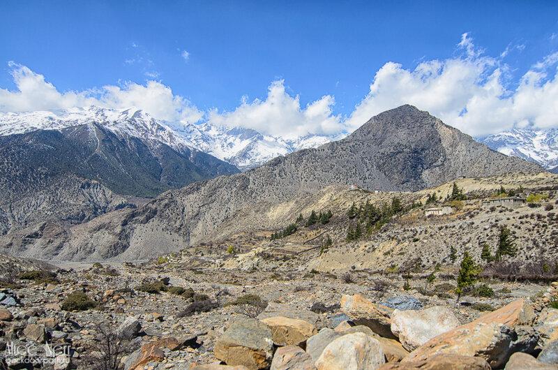 виды по дороге к будущему лагерю, Гималаи, Непал
