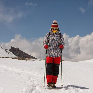 На перевале Торонг-Ла, Гималаи, Непал