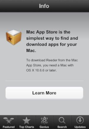 Mac AppStore на iPhone и iPad