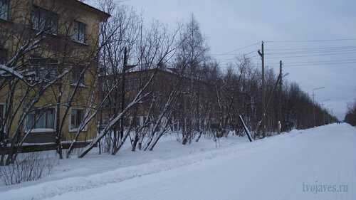Фото города Инта №2841  Коммунистическая 20 и 22 (школа №3) 31.01.2013_13:34