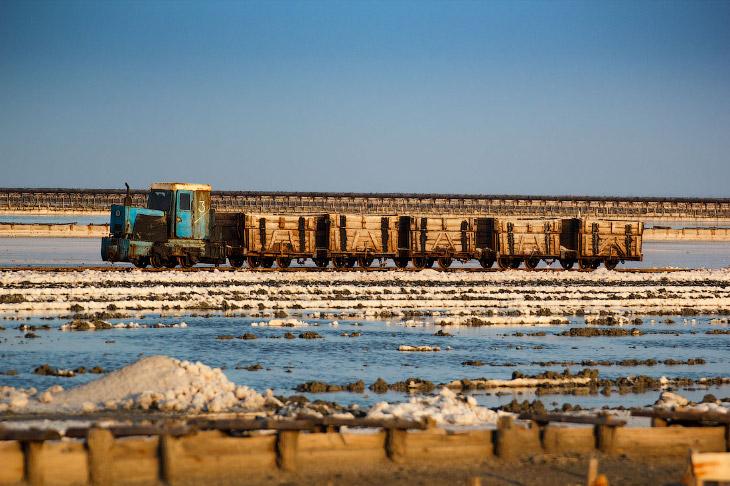 Добыча живой соли в Крыму (24 фото)