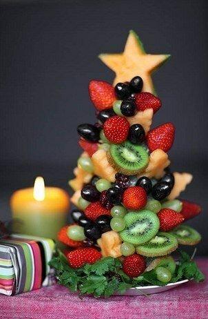 Новогодние фруктовые салаты с фото