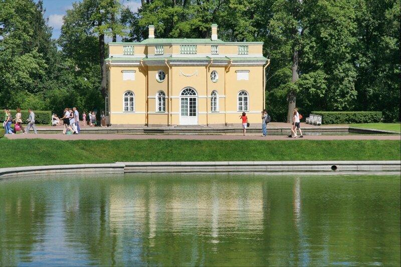 Екатерининский парк, Верхняя ванна и Зеркальный пруд