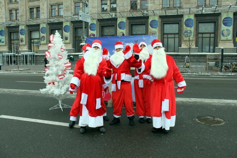 Деды Морозы на Крещатике