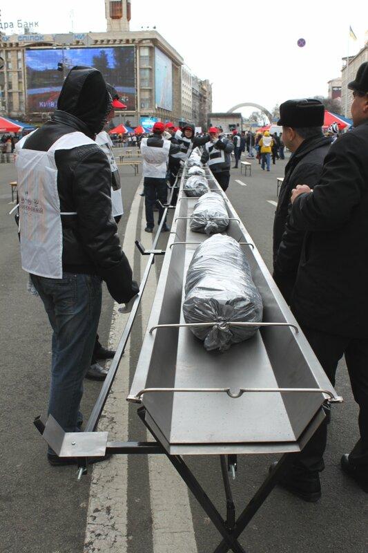 160-метровый мангал на Крещатике
