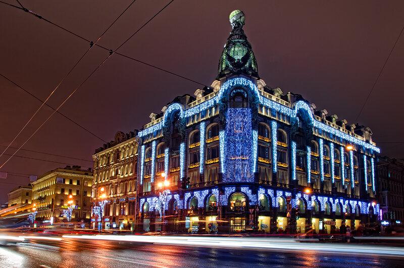 Дом на новый год в петербурге