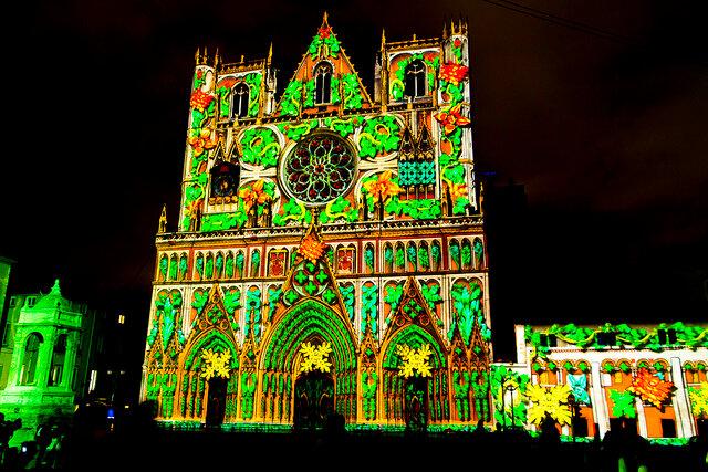 Фестиваль света в Лионе 2012