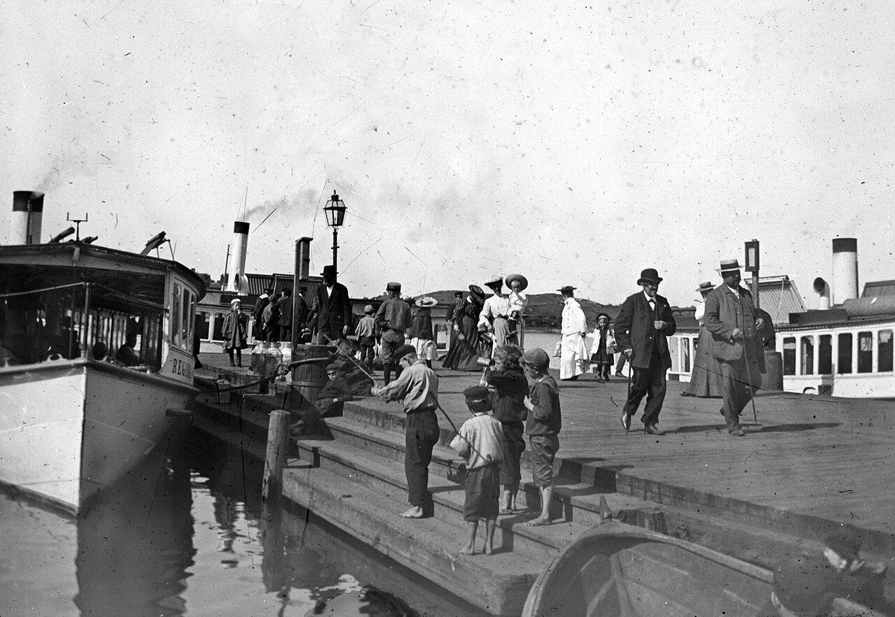 Пароходный пирс в Карлскруна около 1900 г