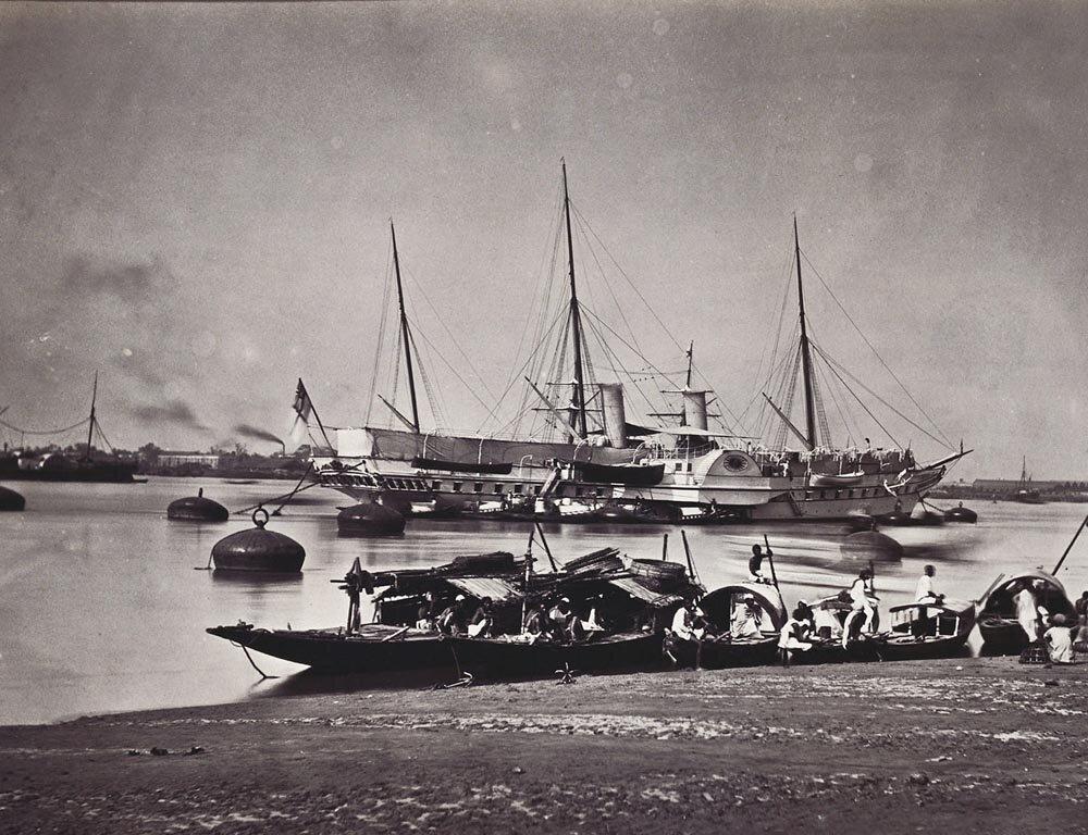 Королевская яхта Осборн на реке Хугли, Калькутта