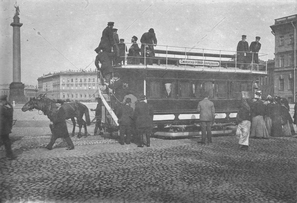 Остановка конки Дворцовая площадь