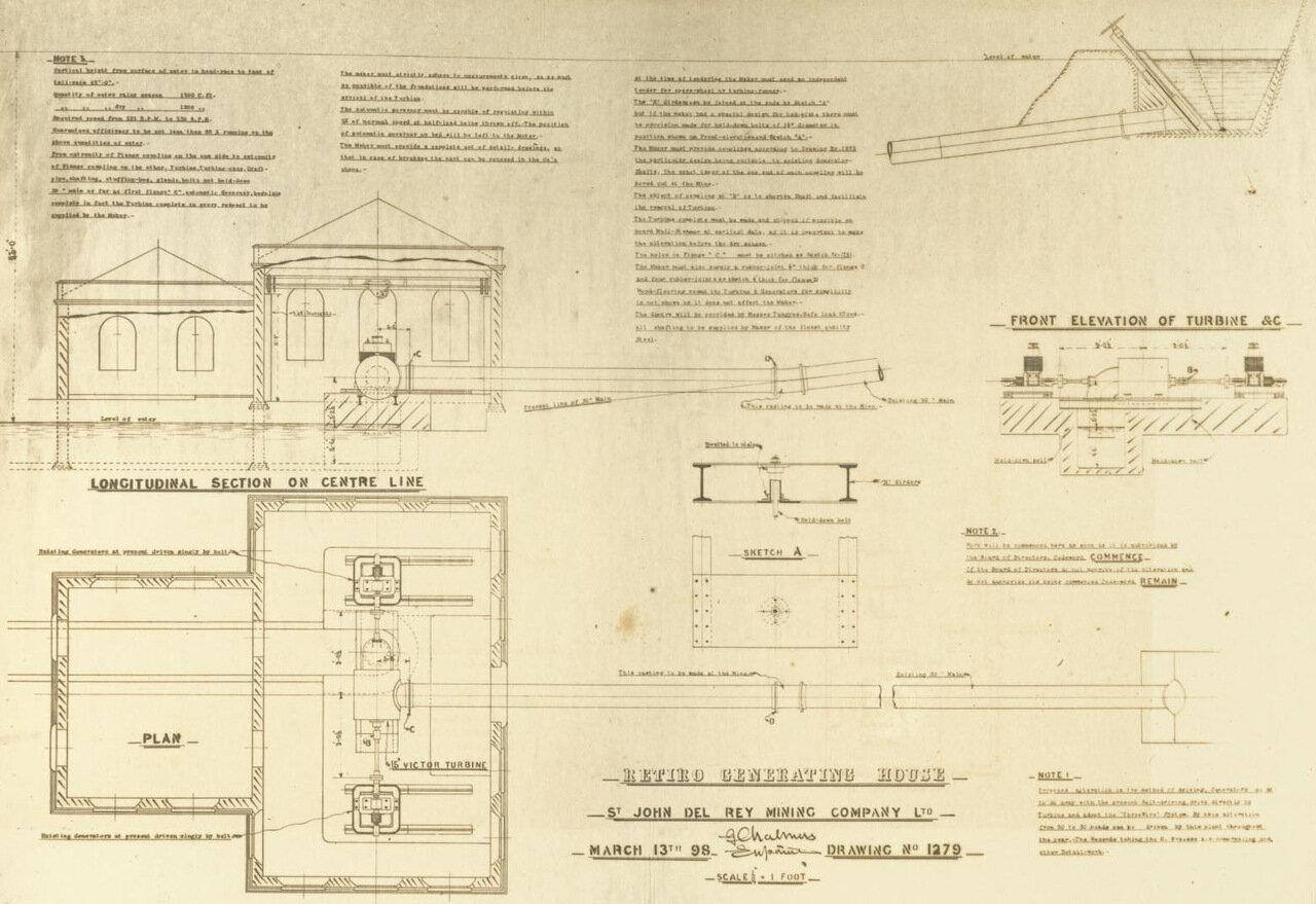 План строительства новой электростанции, 13 марта 1898