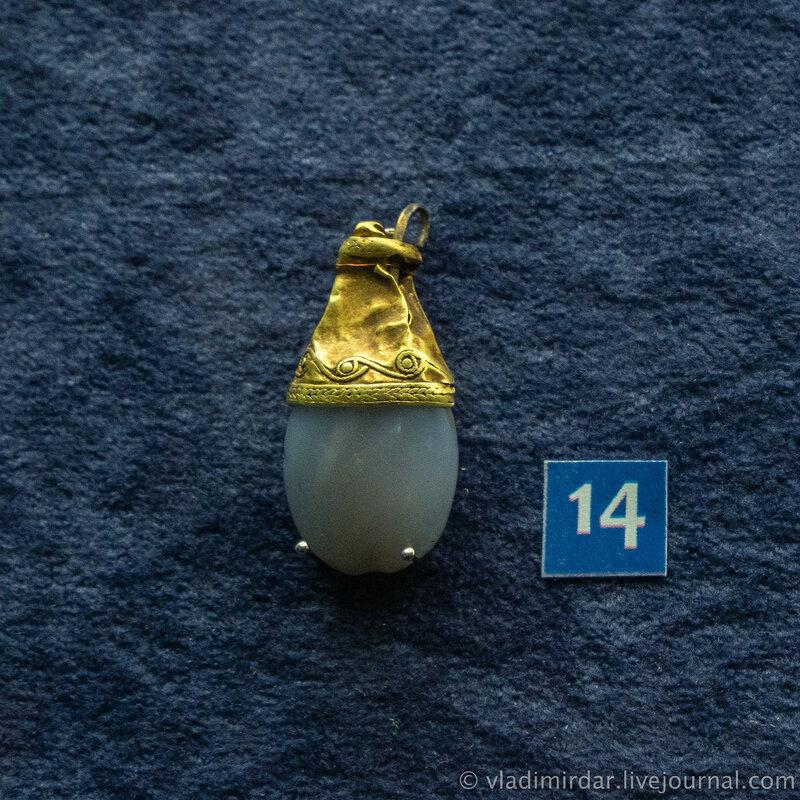 Подвеска. Золото, серебро, халцедон. Вторая четверть I в. до н.э.