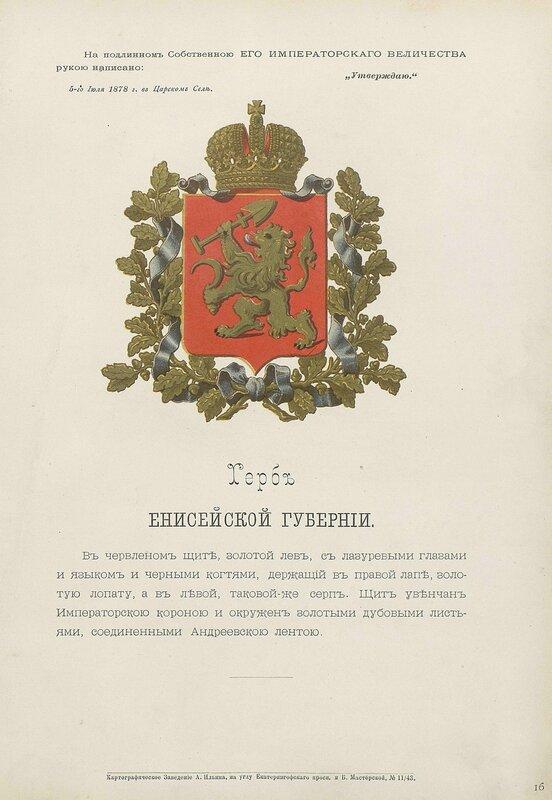 Енисейская губерния 1880 год
