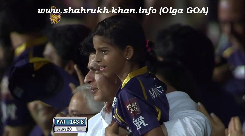 SRK & Suhana - IPL - 5 may 2012