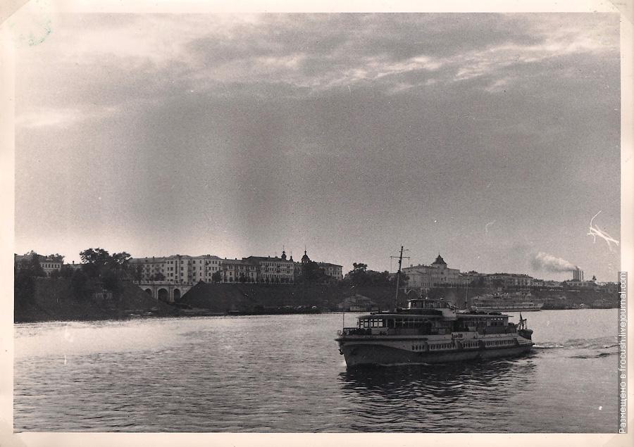 Ярославль 1965 год. Вид на город с Волги