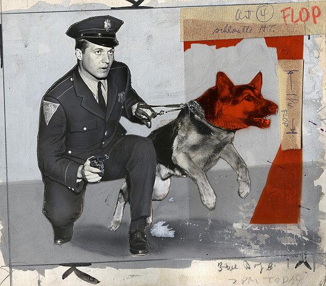 K-9 Patrolman Kenneth Krueger with his dog, Fang