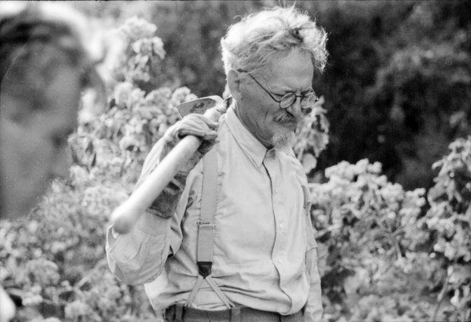Leon Trotsky hunting for cacti in Mexico, 1940. Photo by Alexander Buchman