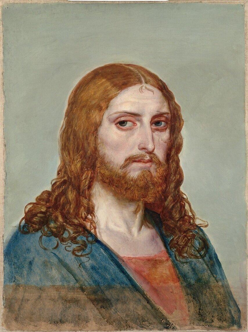 Христос, Этюд к картине Явление Христа народу. (1840-1857) Иванов Александр Андреевич (1806-1858), ГТГ
