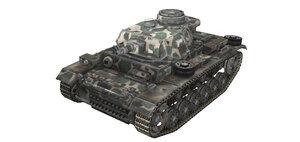 Шкурка для среднего танка PzKpfw III