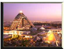 ОАЭ. Дубаи. Raffles Dubai. Exterior overlooking Wafi