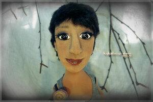 Портретная текстильная кукла по фото в скульптурно - текстильной технике. Шарж кукла.
