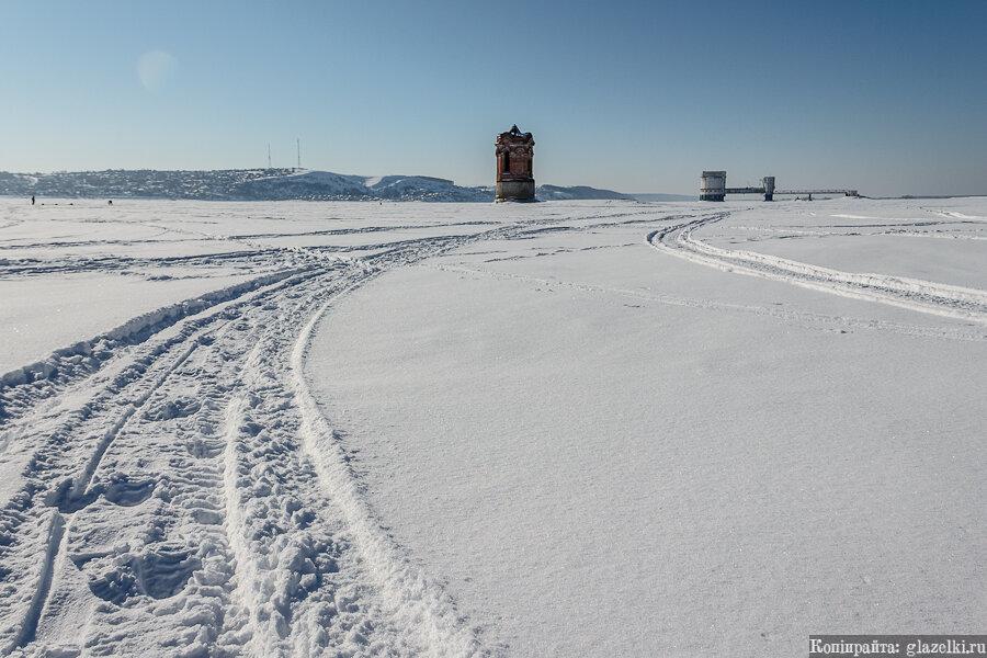 Волга зимой.