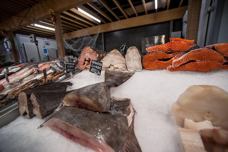 покупка свежая рыба