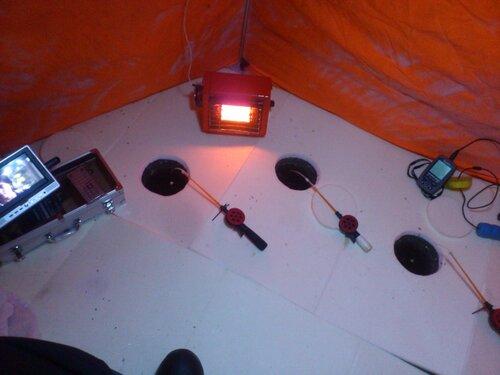 Освещение на рыбалке от аккумулятора