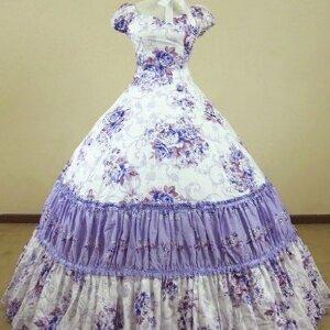 Женский карнавальный костюм Платье «Сиреневое»