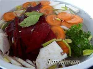 Отваренные овощи. Готовый отвар