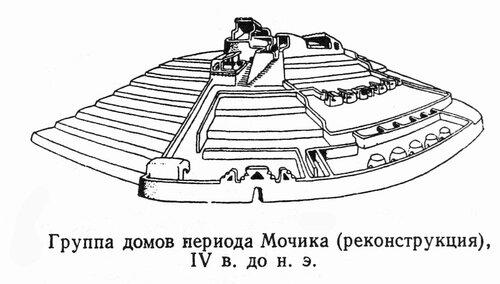 Группа домов периода Мочика, реконструкция