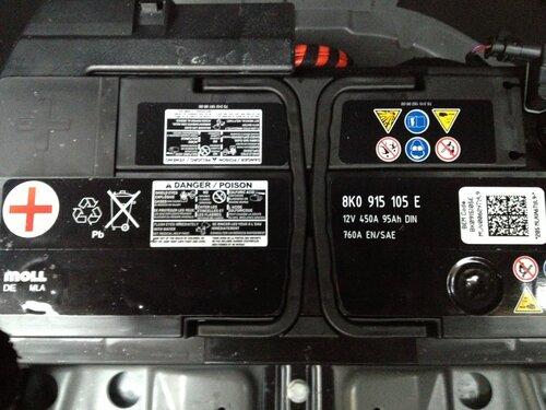 как поменять аккумулятор на audi a4 b8